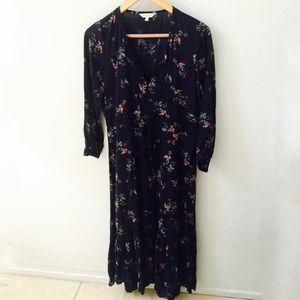 Lucky Brand Bohemian Floral Maxi Dress